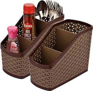 Kuber Industries Compact 2 Piece Plastic Storage Basket (CTKTC5267)