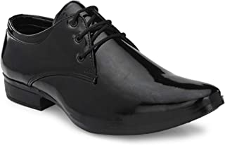 HEEDERIN Men's Qyality Patent Lace up Formal Officewear Shoe