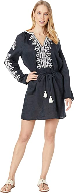 Embroidered Linen Dress Cover-Up
