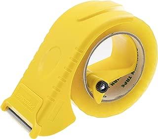 Prosun 2 Inch Packing Tape Gun Dispenser, Width-Adjustable Box Sealer, Lightweight Ergonomic Industrial Heavy Duty Tape Cutter for Carton, Packaging and Box Sealing, Yellow