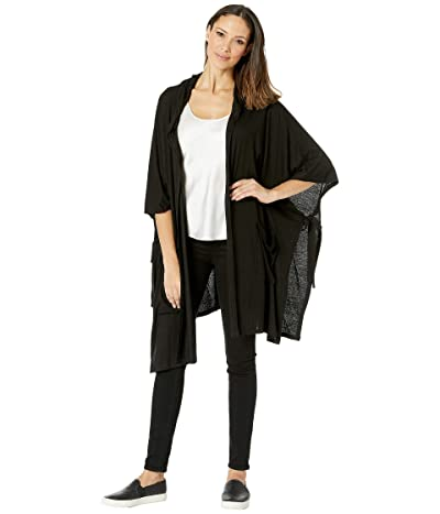 American Rose Macie Pocketed Cardigan (Black) Women