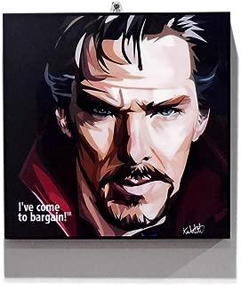 Pop Art Superhero Quotes - Doctor Strange Marvel Avengers Framed Acrylic Canvas Poster Prints Artwork Modern Wall Decor, 10