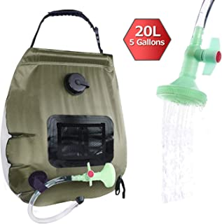 ELECTRFIRE Solar Shower Bag Camping Shower 5 Gallon with...