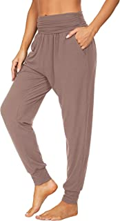 UEU Women's Cozy Yoga Joggers Pants Loose Workout Sweatpants Comfy Lounge Pants with Pockets