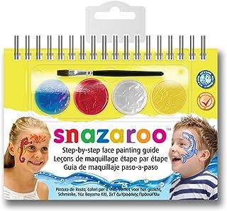 Snazaroo - Manual A6 de maquillaje con pintura facial y guí