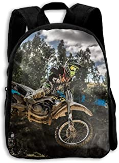 Mochila Escolar, Mochila de Viaje Mochila, Motocross Sport Motorcycle Vehicle School Backpack Children Shoulder Daypack Kid