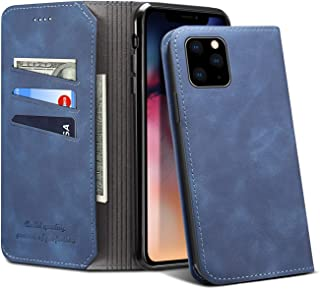 Leather Wallet Case for iPhone 11 6.1 inches,Slim Soft Protective Folio Fashion Light Magnetic Closure