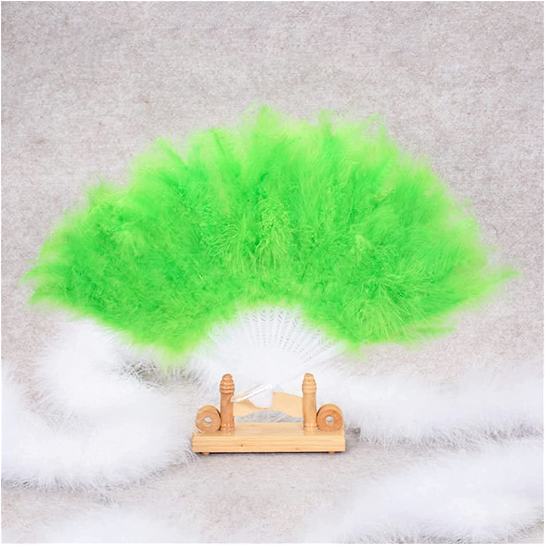 hermosa Lolita pluma plegable ventilador japonés dulce hada niña corte danza mano ventilador arte arte regalo boda fiesta decoración 45 x 25 cm Decoración de la danza Accesorios de rendimiento (color:
