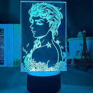 Lámpara de luz nocturna 3D LED para niños, anime JoJo y aventura extraña Dio Brando, imagen de personaje para niños, regalos de cumpleaños, 7 colores