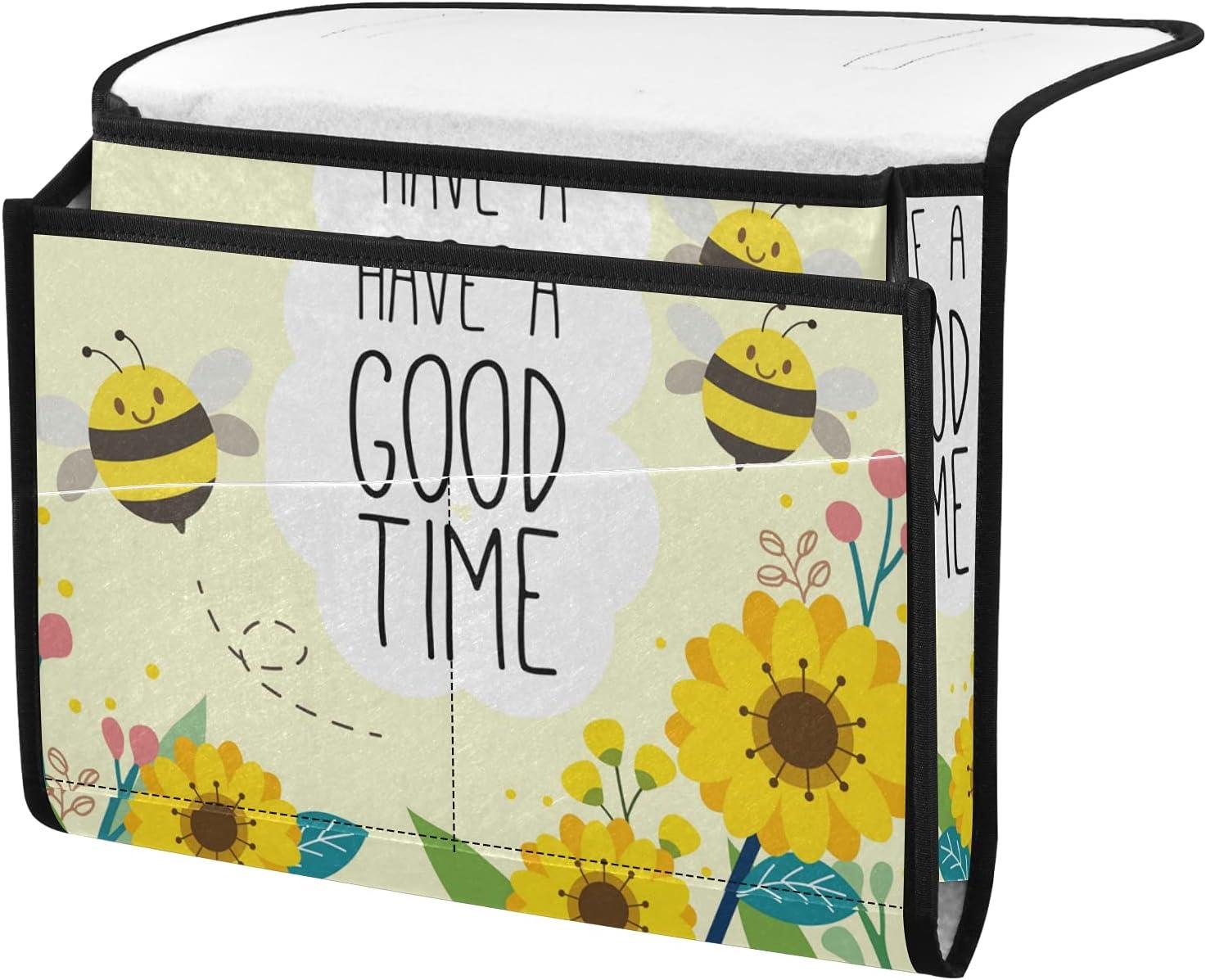 senya Cute Bee Bedside Storage Ranking TOP18 Caddy Table Direct stock discount Cab Organizer
