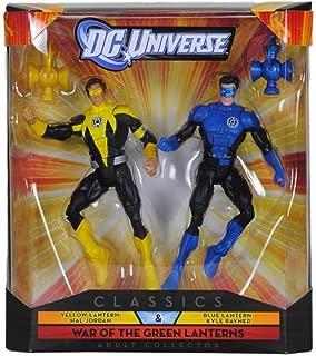 DC Universe Collector Classics - Yellow Lantern Hal Jordan & Blue Lantern Kyle Rayner Figures