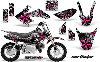 AMR Racing MX Dirt Bike Graphic Kit Sticker Decals Compatible with Honda CRF50 2004-2013 - NorthStar Pink