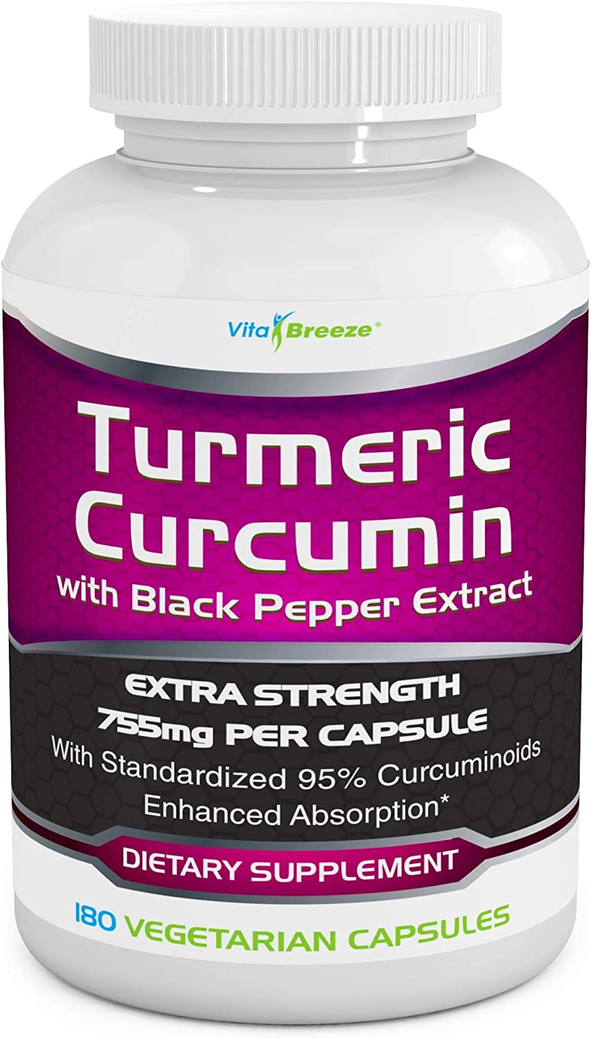 Turmeric Curcumin Complex with Max 100% quality warranty! 49% OFF Black Extract per Pepper 755mg -