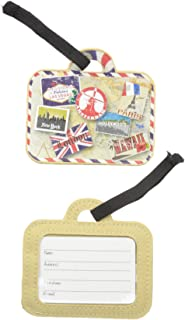 Sponsored Ad - Miamica 2 Piece Set Luggage Tag, Assorted Styles, Vintage Print Gold, One Size