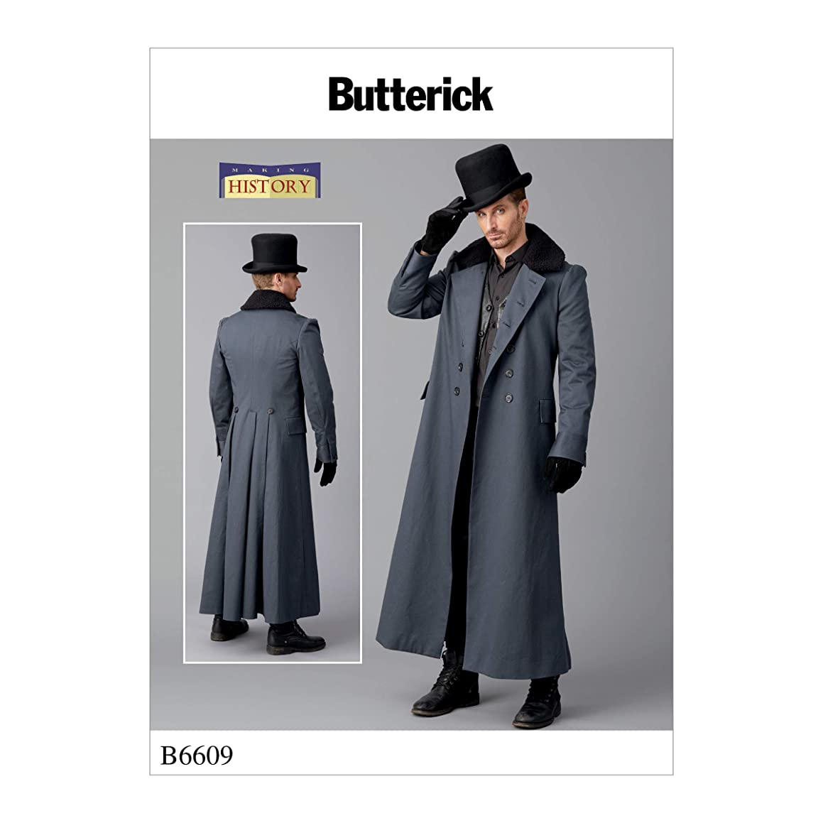 McCall's Patterns B6609MQQ BUT 6609 Butterick Patterns B6609 Men's Costume Coat by Making History, Size 46-48-50-52?