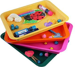 Activity Plastic Tray - Art + Crafts Organizer Tray, Serving Tray, Great for Crafts, Beads, Orbeez Water Beads, Painting (...