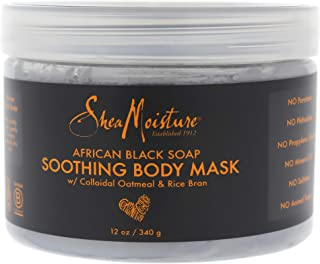 Shea Moisture African Black Soap Soothing Body Mask For Unisex, 12 Oz.