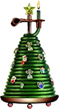 Candle by the Hour 80-Hour Christmas Tree Candle with 14 charms, Eco-friendly Natural Beeswax with Cotton Wick