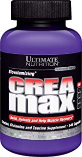 Ultimate Nutrition CreaMax Creatine Monohydrate Powder with Glutamine and Taurine, 2000mg, 144 Capsules
