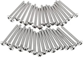 DTTRA 35PCS #8-32 x 1-1/2inches Machine Screws, 304 Stainless Steel, Pan-Head Bolts, Cross Drive, for Cabinet Drawer Knob ...