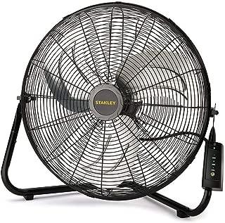 Lasko 655650 Stanley Max Performance High Velocity Floor Fan, 1-Pack, 14 inch (Renewed)