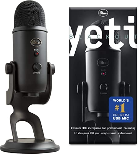 Blue Microphone Yeti Microphone USB, Blackout