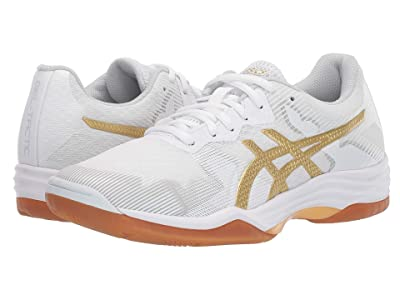 ASICS GEL-Tactic(r) (White/Rich Gold) Women