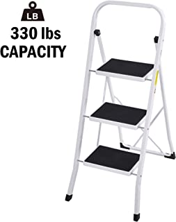 Folding 3 Step Ladder Heavy Duty Step Stool Home