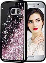 Galaxy S7 Case, Caka Galaxy S7 Glitter Case Starry Night Series Luxury Fashion Bling Flowing Liquid Floating Sparkle Glitter Girly Soft TPU Case for Samsung Galaxy S7 (Rose Gold)
