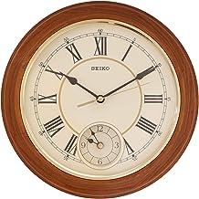SEIKO Wood Wall Clock (30 x 30 cm, Brown)