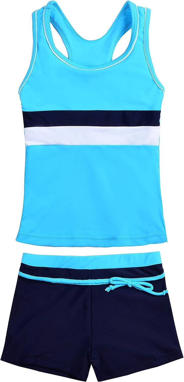 Uhnice Girls Swimsuit Two Piece Philadelphia Mall Boyshort Swimwear Choice with Tankini