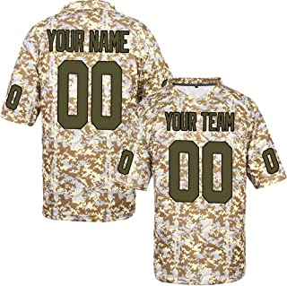 Custom Football Jerseys for Men Women Youth Stitched Camo Salute to Service S-8XL Design Your Own