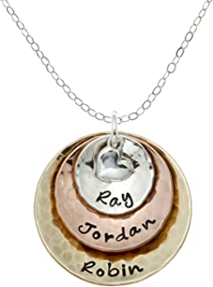 Best grandmother necklace personalized gold Reviews