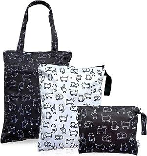 3 bolsas impermeables reutilizables y lavables para mojar, ropa de bebé, pañales, resistente al agua, traje de baño, artíc...