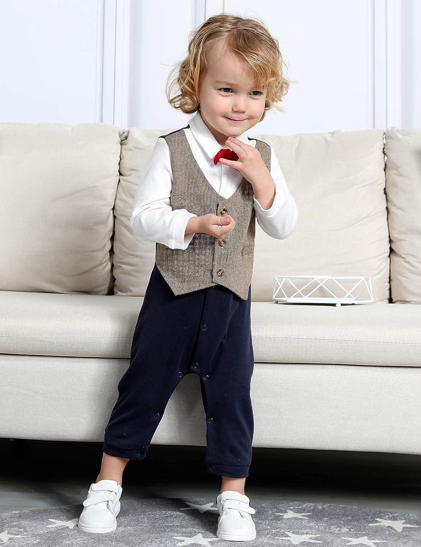 Baby Boys Vestito da gentiluomo Battesimo Tuta Body mintgreen Tutine Neonato Maschio Smoking