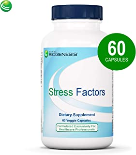 Nutra BioGenesis Stress Factors - Vitamin B6, Lithium and GABA to Help Support Stress Response and Mental Health - 60 Capsules