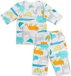 Toddler Kids Boys Girls Cotton Summer Pajama Set 3/4 Sleeve 2 Pieces Set