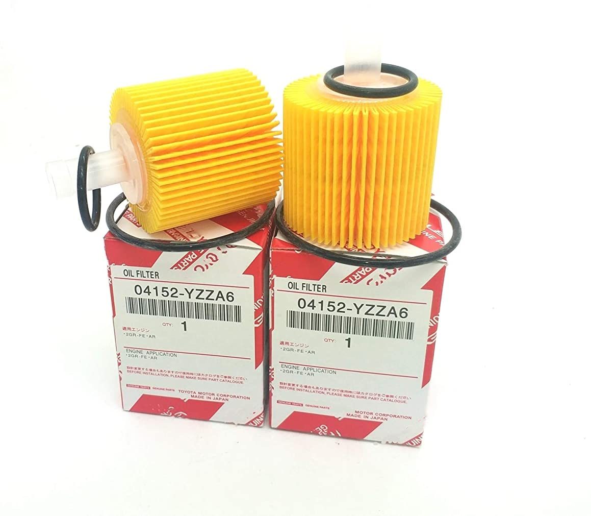 04152-YZZA6 Engine Oil Filter For Toyota Corolla Lexus CT200H (QTY2)