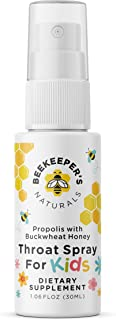 BEEKEEPER'S NATURALS Propolis Throat Spray for Kids - 95% Bee Propolis Extract - Natural Immune Support & Sore Throat Reli...