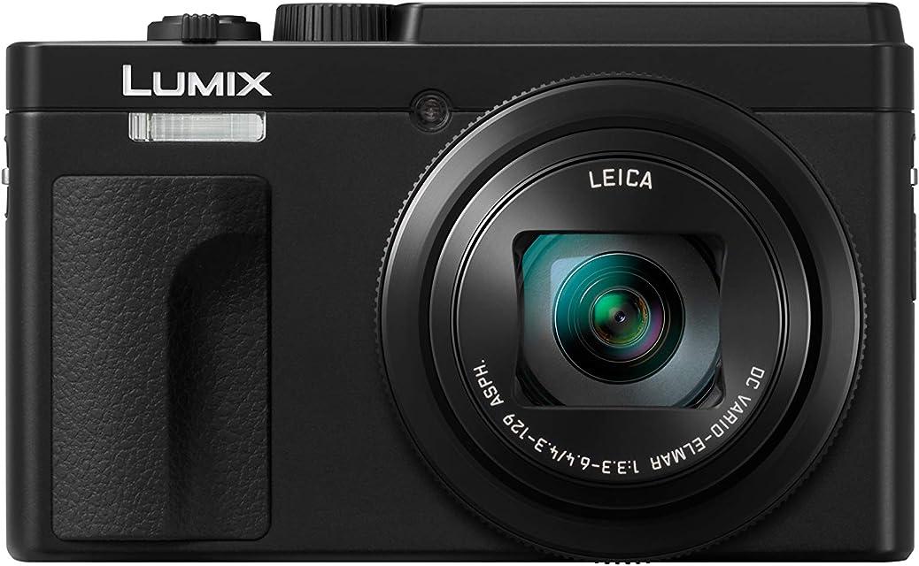 Panasonic Lumix DC-TZ95 - Cámara Compacta de 21.1 mp (Super Zoom 10fps Objetivo F3.3-F6.4 de 24-720mm Zoom de 30X Pantalla Abatible 4K Wifi Bluetooth RAW) Color Negro