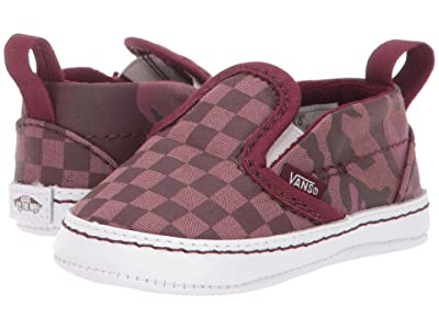Vans Kids Slip-On V Crib (Infant/Toddler) ((Tonal Checkerboard) Port Royale/True White) Boys Shoes