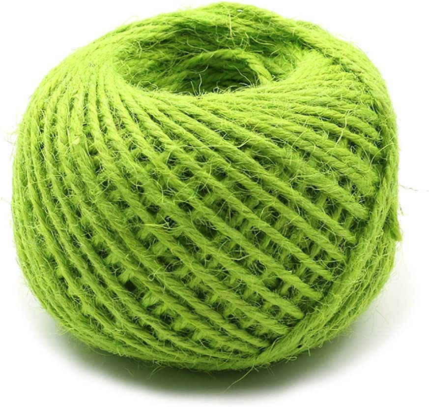 2mm Jute Twine String 54 Yards Green Hemp Rope Cord for Tag, Christmas Gifts Wrapping, Wedding Decoration, Office, Gardening Projects(Emerald Green)