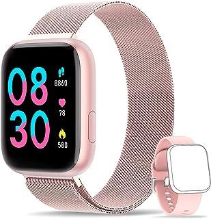 WWDOLL Smartwatch, Reloj Inteligente IP67 con Monitor Rítmo Cardíaco Sueño Podómetro Notificaciones, Reloj Deportivo 1.4 I...