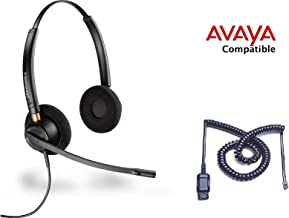 Avaya Compatible Plantronics HW520 EncorePro 520 Noise Canceling Headset Bundle Avaya 1600, 9600 Phones: 1608 1616 9601 9608 9610 9611 9611G 9620 9620C 9620L 9621 9630 9640 9640G 9641 9650 9650C 9670