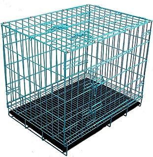 Futurekart Single-Door Folding Metal Dog Cage with Paw Protector (60x42x50CM)