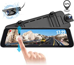 Vantrue M1 Rear View Mirror Dash Cam GPS Waterproof Backup Camera 9.88