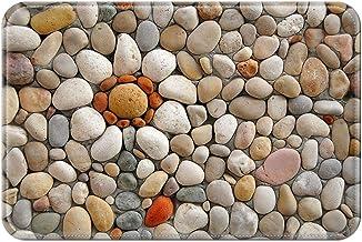 ZMvise Rubber Fashions Doormat Stones Art Indoor Outdoor Front Welcome Door Mat 18 x 30 inch