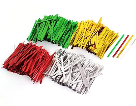 Candy Bread Bags Packaging Twist Cable Tie 8cm Length 3200 Pcs