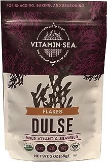 VitaminSea Organic Dulse Flakes Seaweed - 2 oz / 56.5 G bags Maine Coast - USDA & Vegan Certified - Kosher - Perfect for Keto or Paleo Diets - (DF2)