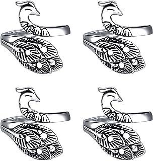 Boucle de Crochet À Tricoter, 4 Pièces Boucles en Tricot Ajustables, Anneau de Boucle Tricoté, Anneau de Dé en Tricot, Dé ...